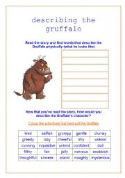 describing the gruffalo