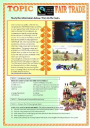 FAIR TRADE - an introductory worksheet (intermediate level)