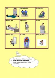 English Worksheet: ACCIDENTS / FIRST AID