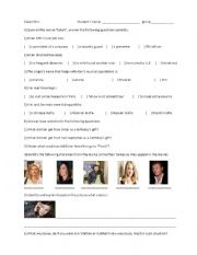 English Worksheets: Movie�s activity