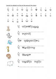 English Worksheets: The animals (complete lesson 8 pages!!!) part 1