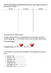 English Worksheets: The animals (8 pages lesson!!!) part 2