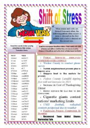 Shift of Stress: Nouns & Verbs