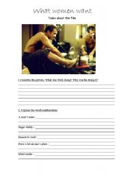 English Worksheets: Film What women want