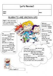 English Worksheets: RUGRATS ARE GROWN UPS!!