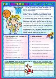 English Worksheet: BASKETBALL: A NEW GAME
