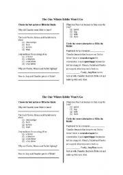 English Worksheets: The one where Eddie won�t go