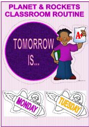 English Worksheets: DAILY CLASSROOM ROUTINE- Tomorrow is...