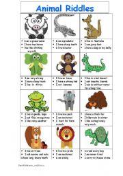 animal riddles guess an animal esl worksheet by danissimo. Black Bedroom Furniture Sets. Home Design Ideas