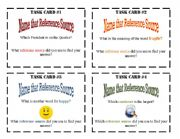 English Worksheets: Reference Task Cards 1-8