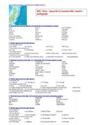 English Worksheet: BBC News - Japan hit by tsunami after massive earthquake