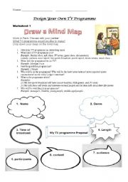 English Worksheets: Design your own TV programme