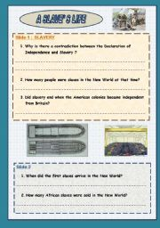 English Worksheet: A SLAVE�S LIFE - READING & LISTENING + LINK  Part 1: slides 1 to 8