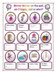 English Worksheets: Mirror Mirror on the wall, am I happy, sad or what?
