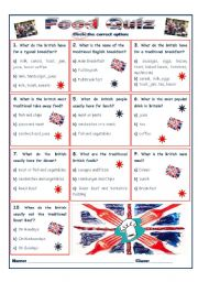 British Food quiz
