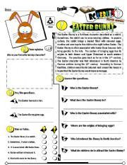 English Worksheet: RC Series_Level 01_Easter Edition 02 Easter Bunny (Fully Editable + Key)