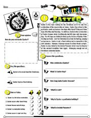 English Worksheets: RC Series_Level 01_Easter Edition 01 Easter  (Fully Editable + Key)