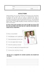 English Worksheet: Researching about Kenya - Formulating questions