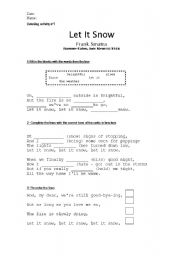 English Worksheet: Let It Snow - Frank Sinatra