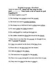 English Worksheets: Tricky English