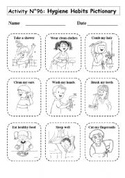 Printables Hygiene Worksheets For Elementary Students english teaching worksheets hygiene no 96 habits pictionary