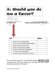 English Worksheets: Would you do me a favor?