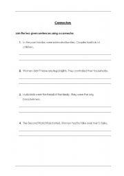 English Worksheets: Connectors2