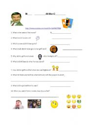 English Worksheets: Mr Bean at the cinema