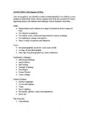 English worksheets: gcse drama