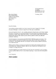 letter template english