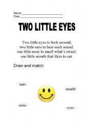 English Worksheets: TWO LITTLE EYES