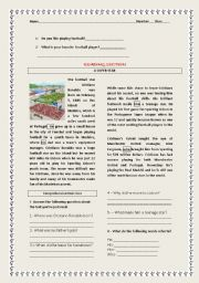 English Worksheet: SPORTS TEST