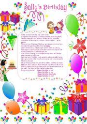 English Worksheet: Sally�s Birthday