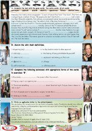 English Worksheets: Reading & Writing ---Key
