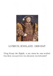 English Worksheets: Henry the VIII