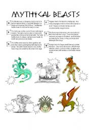 English Worksheets: Mythical Beasts