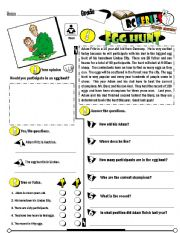 English Worksheets: RC Series_Level 01_Easter Edition 04 Egg Hunt (Fully Editable + Key)