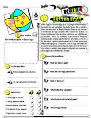 English Worksheet: RC Series_Level 01_Easter Edition 03 Easter Eggs (Fully Editable + Key)