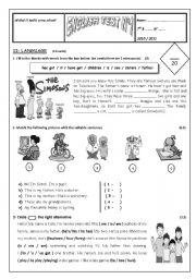 English Worksheet: 7th form test 1