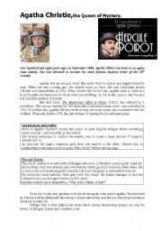 English Worksheet: Agatha Christie, the queen of mystery