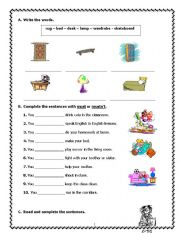 English Worksheets: must