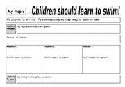 English Worksheet: Persuasive Writing Plan