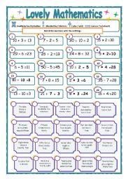 English Worksheets: BASIC MATHAMETICS