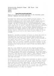 English Worksheet: Selectivity test on Japan tragedy