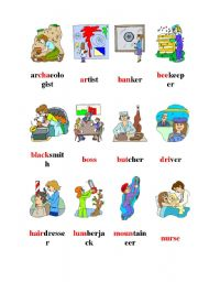 English Worksheets: proffesions