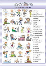 English Worksheet: ACTIONS picture dictionary