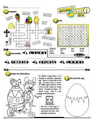 English Worksheets: Holiday Series_02 Easter (Fully Editable + Key)