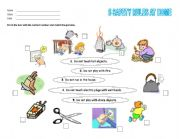 English Worksheet: Safety Rules at Home