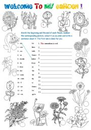 Welcome to my garden! - 2 pages - 3 activities - ESL worksheet by ...
