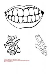 English Worksheets: Teeth care